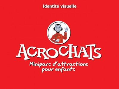 Logotype Acrochats par Patrick Brossollet